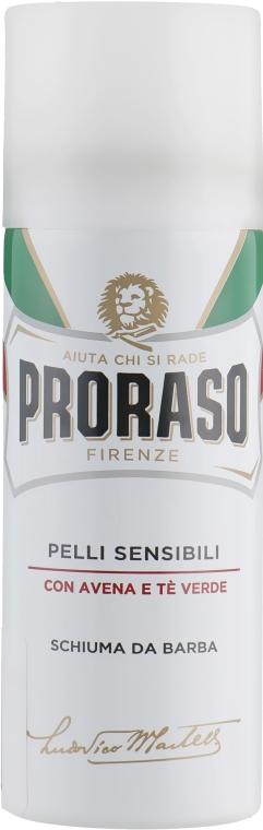 Пена для бритья для чувствительной кожи с экстрактом зеленого чая и овсянки - Proraso White Line Anti-Irritation Shaving Foam