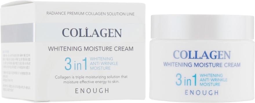 Крем для лица увлажняющий с коллагеном 3 в 1 - Enough Collagen Whitening Moisture Cream 3 in 1