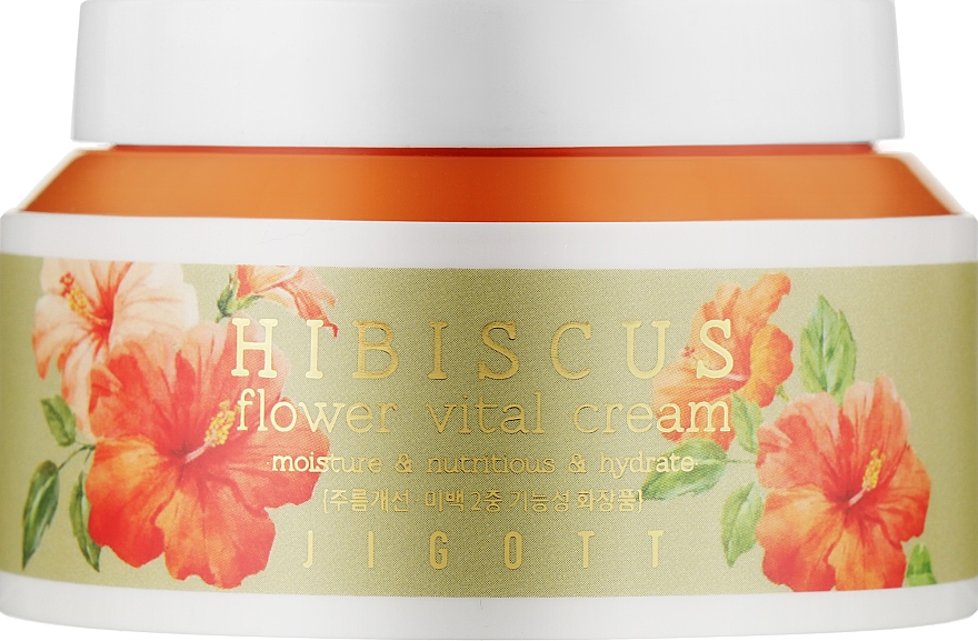 """Крем для лица """"Антивозрастной"""" с экстрактом гибискуса - Jigott Hibiscus Flower Vital Cream"""