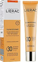 Духи, Парфюмерия, косметика Солнцезащитный тонизирующий флюид для лица SPF30 - Lierac Sunissime Energizing Protective Fluid Global Anti-Aging