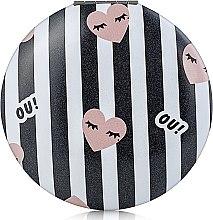 Духи, Парфюмерия, косметика Зеркало круглое М1041-2, черно-белое - Rapira