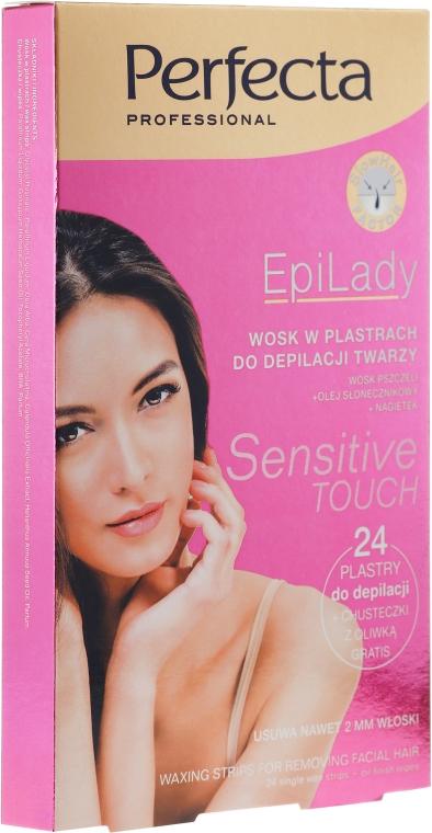 Сахарный воск для депиляции лица в пластыре - Perfecta EpiLady Sensetive Touch Patch