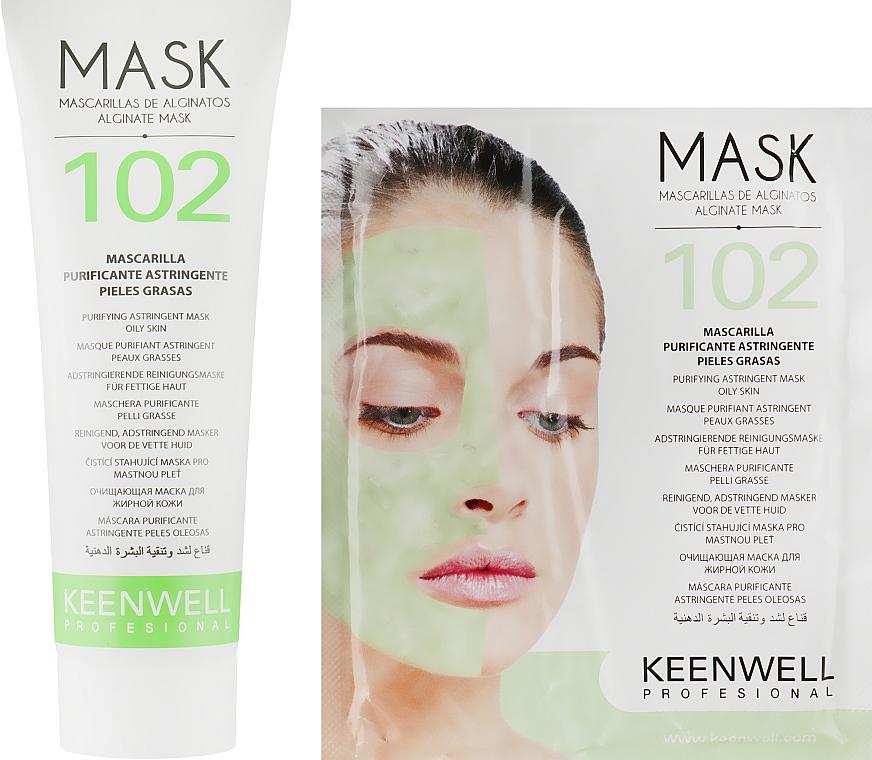 Очищающая маска для жирной кожи - Keenwell Alginate Mask № 102