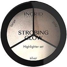 Духи, Парфюмерия, косметика Пудровая палитра - Ingrid Cosmetics Strobing Glow Highlighter Set