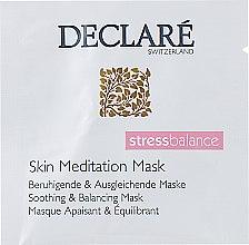 Духи, Парфюмерия, косметика Маска интенсивная успокаивающая мгновенного действия для лица - Declare Stress Balance Skin Meditation Mask (пробник)