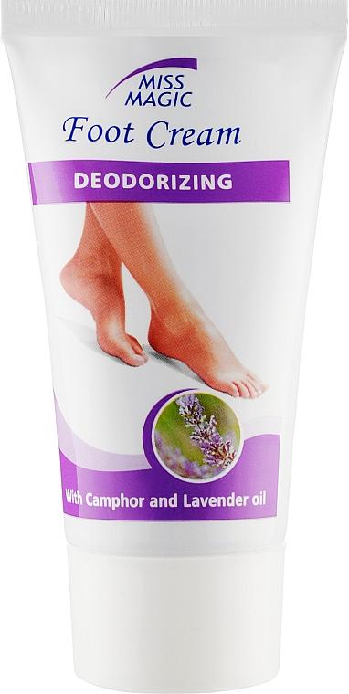 Дезодорирующий крем для ног с камфорой и маслом лаванды - Miss Magic Deodorizing Foot Cream With Lavender Oil