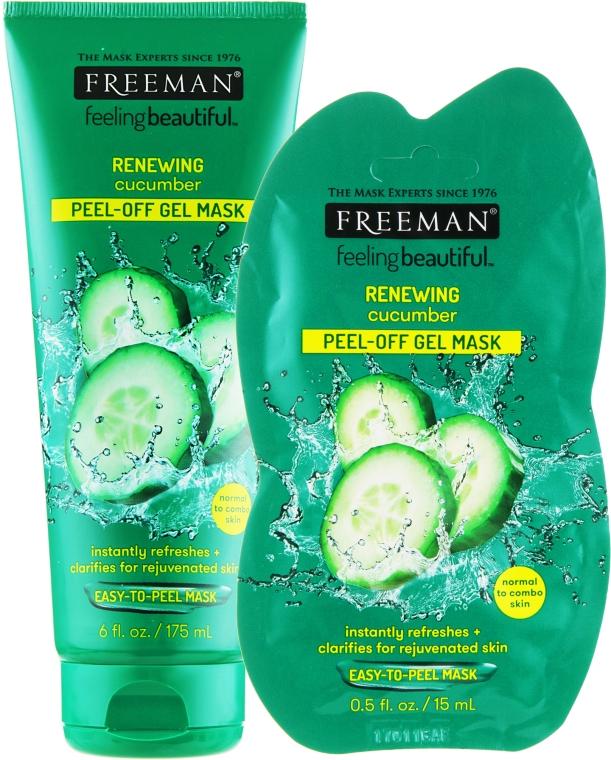 Очищающая маска-пленка для лица огуречная - Freeman Feeling Beautiful Facial Peel-Off Mask Cucumber