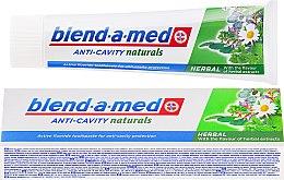 Духи, Парфюмерия, косметика Зубная паста - Blend-a-med Anti-Cavity Herbal Natural