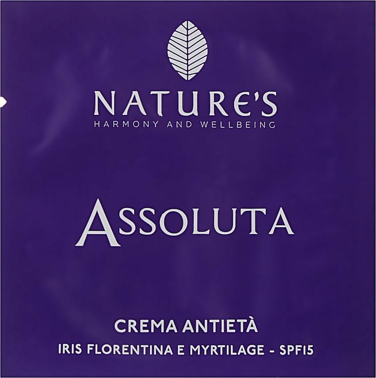 Крем антивозрастной для лица - Nature's Assoluta Anti-Aging Cream SPF 15 (пробник)