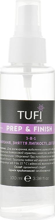 Жидкость-спрей для обезжиривания, снятия липкого слоя, дегидратации - Tufi Profi Prep & Finish