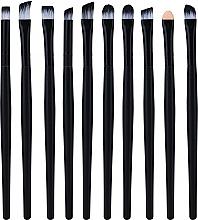 Духи, Парфюмерия, косметика Набор профессиональных кистей для макияжа, 10 шт, черный - Lewer