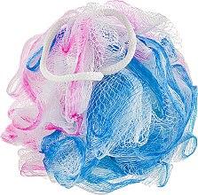 Духи, Парфюмерия, косметика Мочалка банная, синтетическая, сине-розовая - Beauty Line