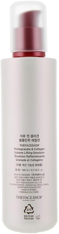 Емульсія з колагеном і екстрактом граната для обличчя  - The Face Shop Pomegranate and Collagen Volume Lifting Emulsion — фото N2
