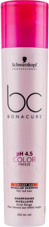 Мицеллярный шампунь для волос с ярким красным оттенком - Schwarzkopf Professional BC Bonacure pH 4,5 Color Freeze Vibrant Red Micellar