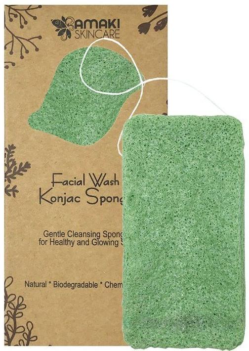 Губка для душа - Amaki Facial Wash Konjac Sponge
