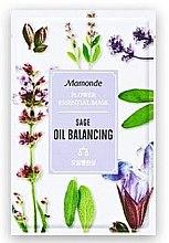 Духи, Парфюмерия, косметика Тканевая маска для лица - Mamonde Flower Essential Mask Sage Oil Balancing
