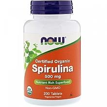 "Духи, Парфюмерия, косметика Природная добавка ""Спирулина"" 500 мг - Now Foods Certified Organic Spirulina Tablets"
