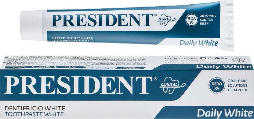 """Зубная паста для отбеливания зубов """"White Clinical"""" - PresiDENT"""