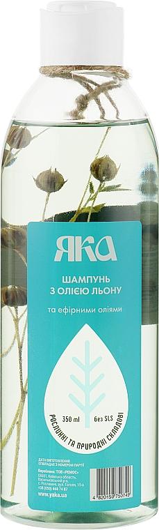 Шампунь для укрепления волос с маслом льна и эфирными маслами - Яка