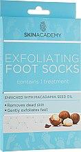 Духи, Парфюмерия, косметика Пилинговые носочки для ног - Skin Academy Exfoliating Foot Socks – Macadamia Nut