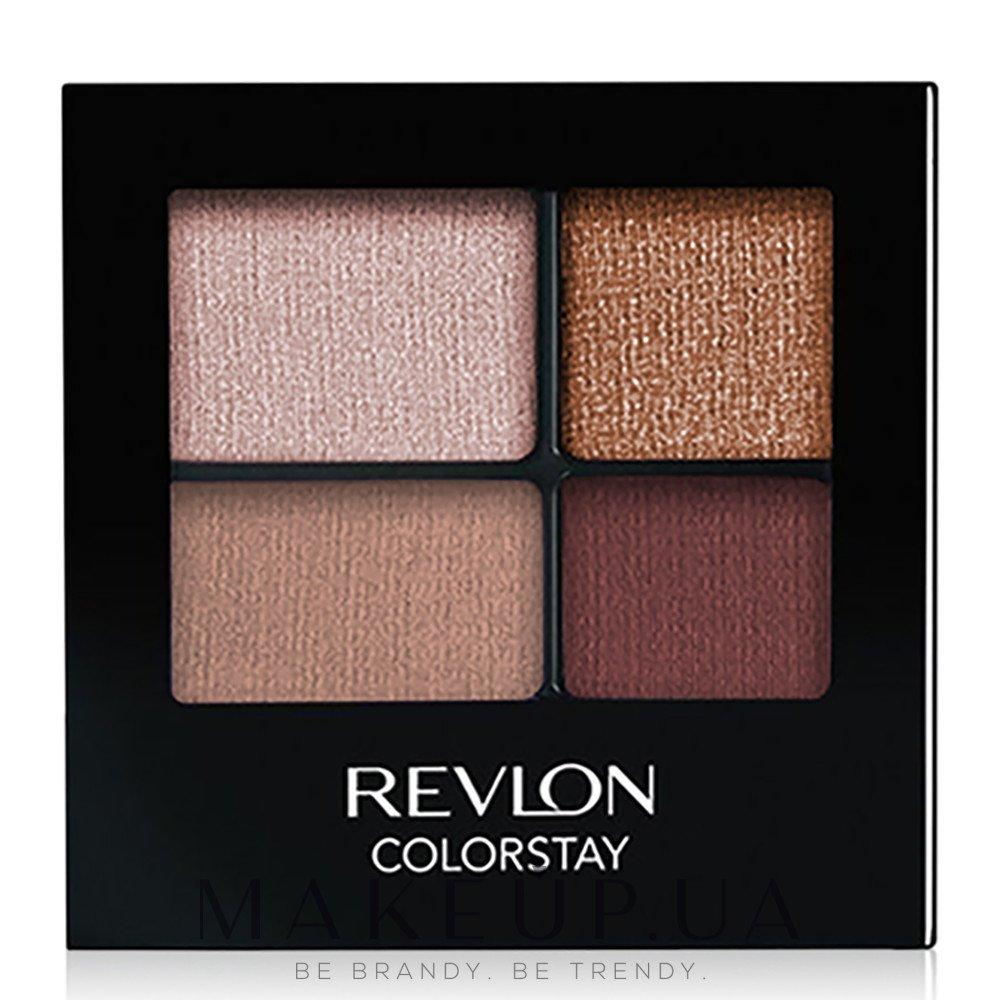 Стойкие тени для глаз - Revlon Colorstay 16 Hour Eyeshadow Quad — фото 505 - Decadent