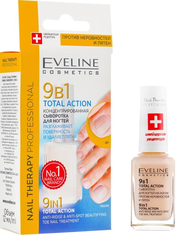 Концентрированная сыворотка для укрепления поврежденных ногтей - Eveline Cosmetics Nail Therapy Professional Total Action 9w1