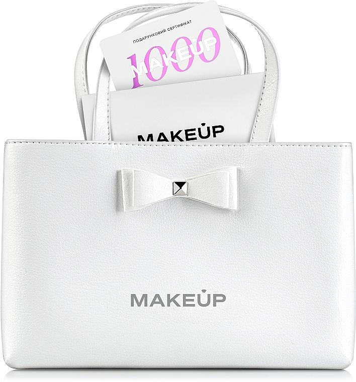 """Подарочный сертификат в сумочке """"White elegance"""" - 1000 грн"""