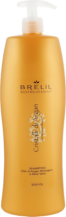 Шампунь увлажняющий с маслом Арганы и Алоэ - Brelil Bio Traitement Cristalli d'Argan Shampoo Intensive Beauty