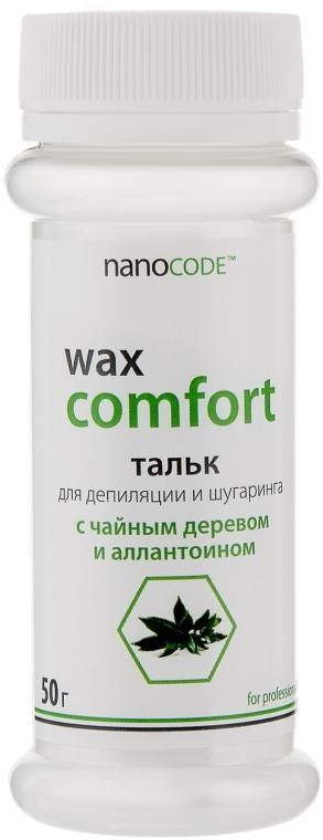 Тальк для депиляции и шугаринга с чайным деревом и аллантоином - NanoCode Wax Comfort