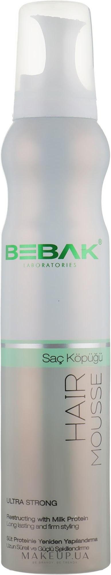 Мусс для укладки волос экстра сильной фиксации - Bebak Laboratories Hair Mousse — фото 200ml