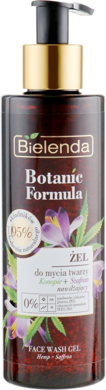 """Гель для умывания """"Масло конопли и шафран"""" - Bielenda Botanic Formula Face Gel"""