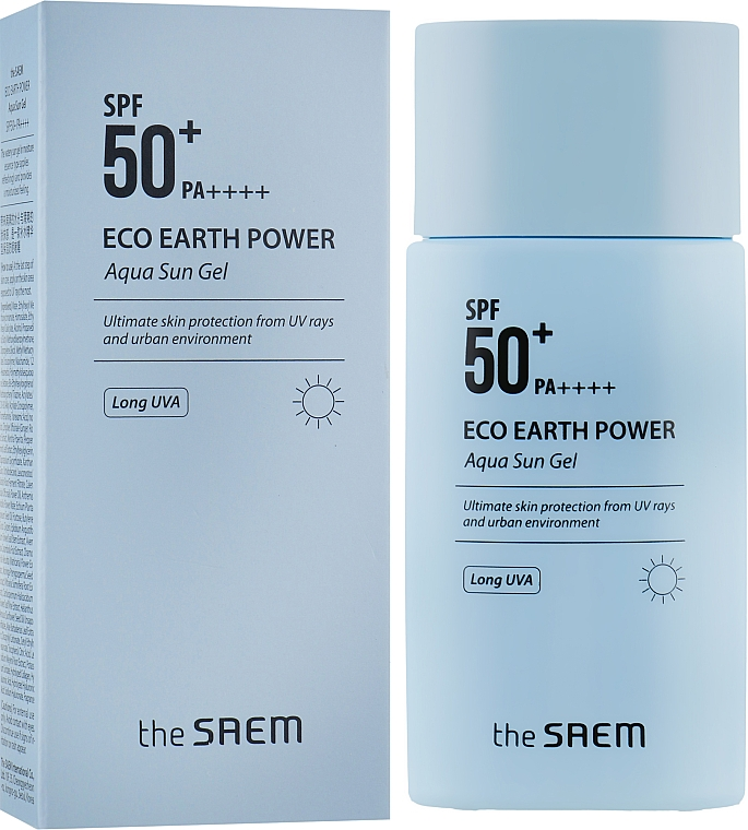 Солнцезащитный гель - The Saem Eco Earth Power Aqua Sun Gel SPF50+ PA+++