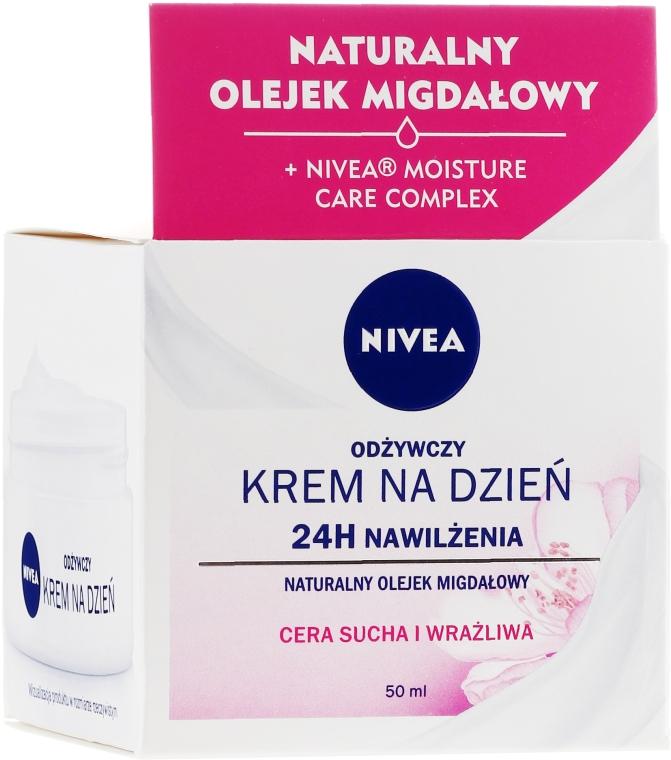Питательный дневной крем для сухой и чувствительной кожи - Nivea Moisturizing Day Cream Nourishing For Dry And Sensitive Skin