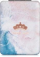 """Духи, Парфюмерия, косметика Зеркало косметическое прямоугольное, """"Imperial Crown"""", розово-голубое - Lily Cosmetics"""