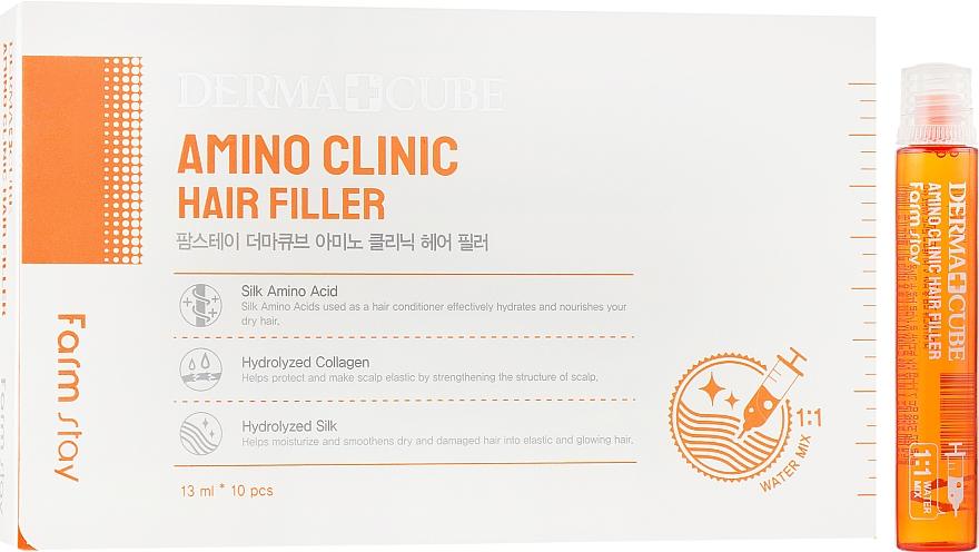 Филлер для волос - FarmStay Dermacube Amino Clinic Hair Filler