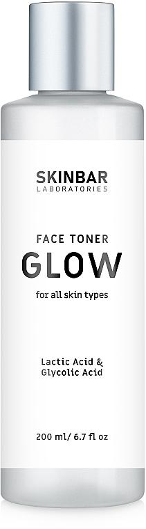 """Тонер для ровного тона и сияния лица """"Glow"""" - SKINBAR Face Toner With Lactic Acid & Glycolic Acid"""