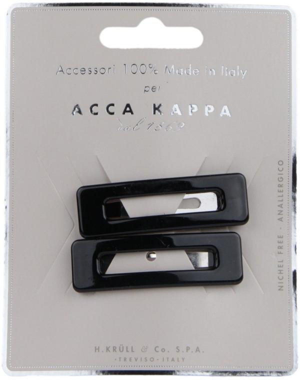 "Заколка ""Клик-Клак"" черная, 2шт - Acca Kappa"