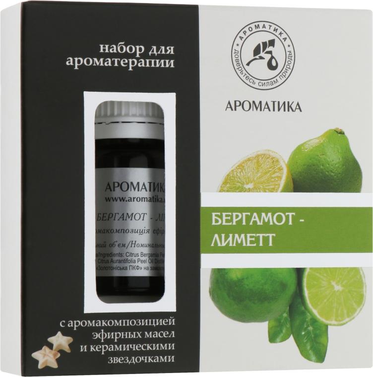 """Набор для ароматерапии """"Бергамот-Лиметт"""" - Ароматика (oil/10ml + accessories/5шт)"""