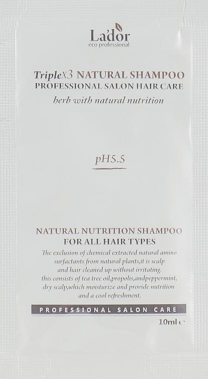 Безсульфатный шампунь - La'dor Triplex Natural Shampoo (пробник)
