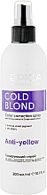 Духи, Парфюмерия, косметика Спрей для волос для нейтрализации теплого оттенка - Epica Professional Cold Blond Anti-Yellow Color Correction Spray