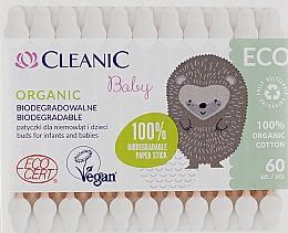 Духи, Парфюмерия, косметика Ватные палочки для детей, 60 шт - Cleanic Baby Eco