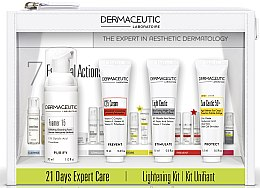 Духи, Парфюмерия, косметика Набор - Dermaceutic Laboratoire 21 Days Expert Care Lightening Kit (cr/15ml + cr/15ml + conc/12ml + foam/30ml)