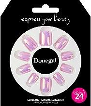 Духи, Парфюмерия, косметика Набор искусственных ногтей с клеем, 3052 - Donegal Express Your Beauty