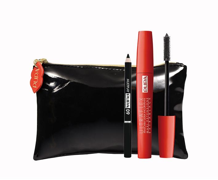 Набор (Mascara/10ml + pencil/0.8g + bag) - Pupa Ultraflex Kit