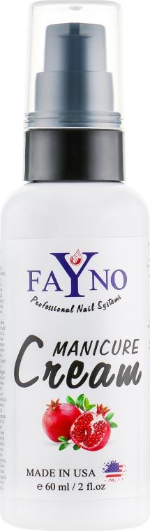 "Увлажняющий крем для рук и кутикулы ""Гранат"" - Fayno Manicure Cream"