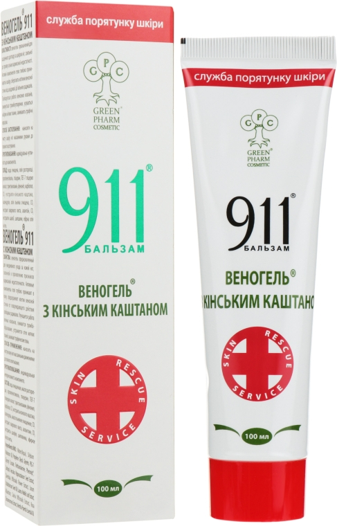 """Веногель 911 """"C конским каштаном"""" - Green Pharm Cosmetic"""
