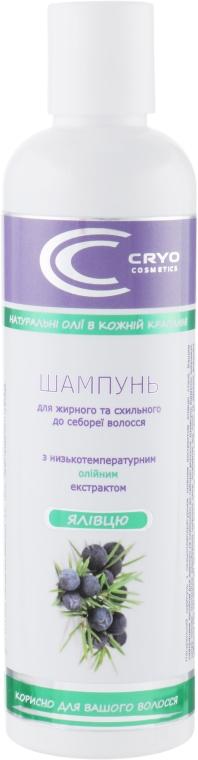 Натуральный шампунь с Крио-Био-активным маслом можжевельника - Cryo Cosmetics