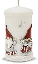 Духи, Парфюмерия, косметика Декоративная свеча, белая, 7х14см - Artman Dwarves