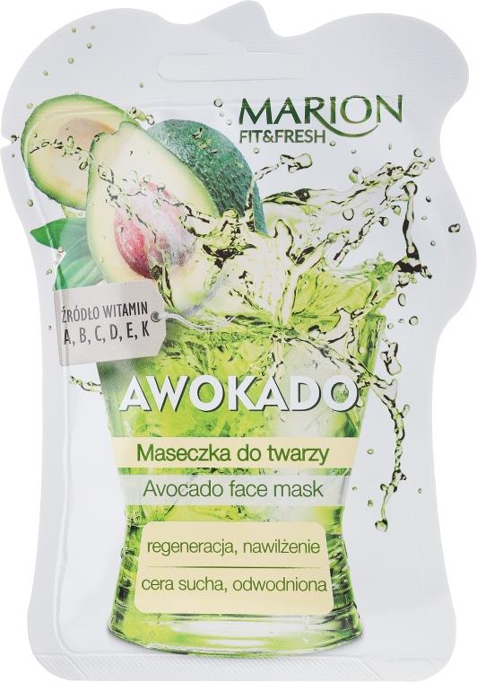 "Маска для лица ""Авокадо"" - Marion Fit & Fresh Avocado Face Mask"