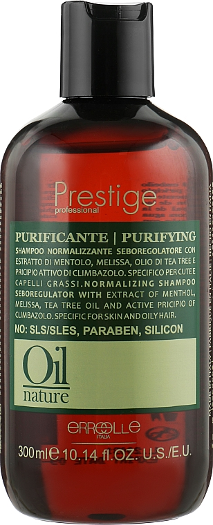 Нормализующий шампунь для волос - Erreelle Italia Prestige Oil Nature Puryfing Shampoo